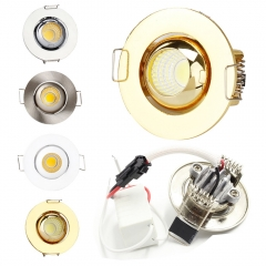 Ranpo Dimmable Mini 3W LED Recessed Ceiling Down Light Spotlight Bulbs AC 220V +Driver