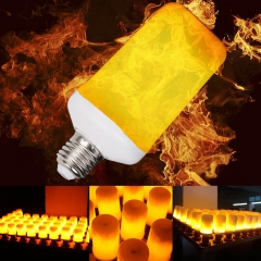 Ranpo LED Flame Effect Simulated Nature Fire Light Corn Bulbs E27 7W Decoration Lamp