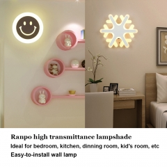 Ranpo LED Wall Light Up Down Acrylic Modern Fixture Mount Room Decoration Sconce Lamp