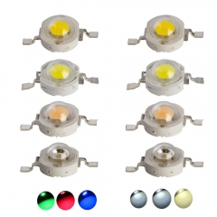 Ranpo 50PCS/Lot 1W led chips bulb diode lamp High Power Led Spotlight Blue Red Yellow Warm Cool White Colorful Downlight Diode