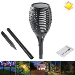 RANPO Solar Path Torches Lights Waterproof Flame Lighting 96LED Flickering Lamp Garden