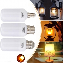 Ranpo Dynamic Flame Effect LED Holiday Light E27 E26 Corn Bulb Lamp B22 Simulation Fire Burning Flicker Christmas Lights AC 85-265V
