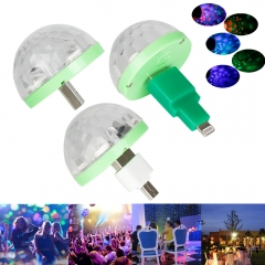 Ranpo USB Mini 3W LED Night Light Changeable by Sound Music Magic Lights Lamp RGB Bulb Colorful Neon lamps Decoration for Party