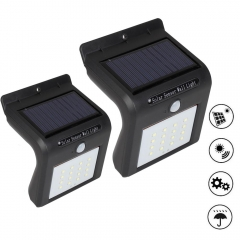 RANPO Waterproof 16 LED Solar Power PIR Motion Sensor Wall Light Outdoor Garden Lamp