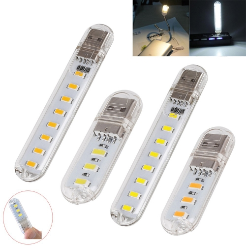 Ranpo 2X USB LED Light Lamp 3LED 8Leds Keychain 5V SMD 5730 Night light Camping lamp For Reading Bulb Laptops Computer Notebook Mobile