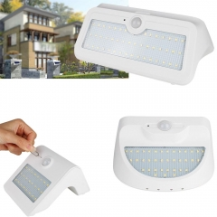 RANPO 7W Waterproof LED Solar Power PIR Motion Sensor Wall Light Outdoor Yard Garden Lamp