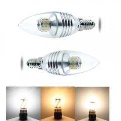 RANPO 5W E27 3 Colors LED Corn Bulb Candle Light 2835 SMD White Lamp