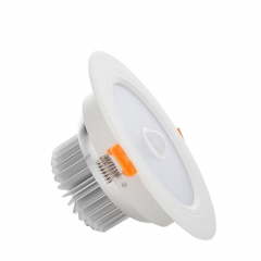 RANPO 7W LED Panel Downlight Recessed Ceiling Light PIR Infrared Motion Sensor AC 85-265V