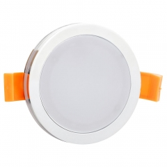 RANPO 6W Round White Shell LED Downlight CREE Recessed Spotlight 110V Ceiling Down Lights Bulbs Lamp Natural White 85-265V