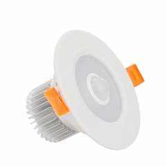 RANPO 5W LED Panel Downlight Recessed Ceiling Light PIR Infrared Motion Sensor AC 85-265V