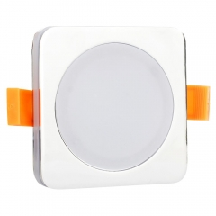RANPO 7W Blue Color Square Sliver Shell LED Downlight CREE Recessed Spotlight 110V Ceiling Down Lights Bulbs Lamp 85-265V