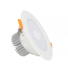 RANPO 9W LED Panel Downlight Recessed Ceiling Light PIR Infrared Motion Sensor AC 85-265V