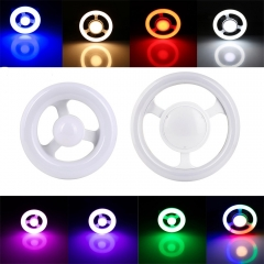 Ranpo E27 LED Circular Tube LED light Ring Lamp AC220V Steering Wheel Led Lamparas 12W 24W Ceiling Lights For Home Decor Lamps Colors