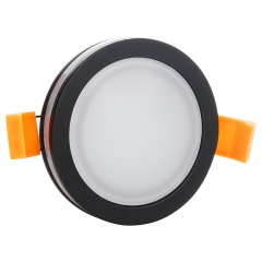 RANPO 6W Round Black Shell LED Downlight CREE Recessed Spotlight 110V Ceiling Down Lights Bulbs Lamp Natural White 85-265V