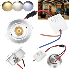 RANPO 3W High Power Ceiling Light LED COB Recessed Lamp Mini Lamp Light AC 85V-265V Home Lighting