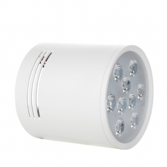 RANPO Dimmable 7W White Shell LED Ceiling Downlight Surface Mounted Fixture 110V 220V