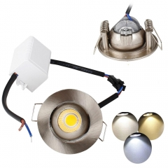 RANPO 3W Mini Recessed LED Ceiling Light COB Downlight Spotlight Bulb Lamp AC 85V-265V