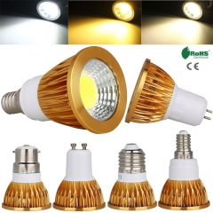 RANPO Dimmable US E12 E26 GU10 GU5.3 COB LED Spotlights Bulb 3W 9W 12W 15W Bright Lamps Warm/Cool White