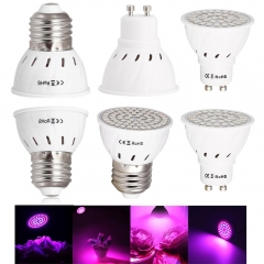 Ranpo E27 Led Bulbs GU10 Grow Lights 110V 220V 2835 5733 SMD Full Spectrum Indoor Plant Lamp For Plants Vegs Hydroponic System Lampada