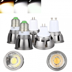 Ranpo Ultra Bright Dimmable LED COB Spotlight 6W 9W 12W E26 E27 MR16 GU10 GU5.3 Light Bulb 12V AC 220V 110V