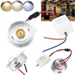 RANPO 3W High Power Ceiling Light LED COB Recessed Lamp Mini Downlight AC 85V-265V