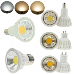 Ranpo 5pcs/lots LED COB Spotlight Dimmable 15W MR16 DC 12V Bulb Lamp Lighting Warm Cool Natural White High Power