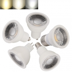 Ranpo 10 pcs/lots Ranpo LED Spotlights 15W E14 E12 E11 MR16 GU10 E26 E27 White Lamp Lights Bulb AC 85-265V DC 12V