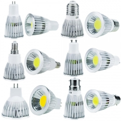 Ranpo GU10 B22 E27 E14 E12 GU5.3 MR16 LED COB Spotlight Bulbs 6W 9W 12W Lamps Lights DC 12V Super Bright Leds Lighting For Home