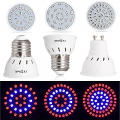 Ranpo 5Pcs/Lots E27 LED GU10 Grow Light 21/28/35/54/72 LEDS 5733/2835 SMD Plant Flower Hydroponic Aquarium Bulb For Plants Vegs System