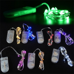 RANPO 1M 10 LED String Silver Copper Wire Fairy String Light Battery Christmas Xmas