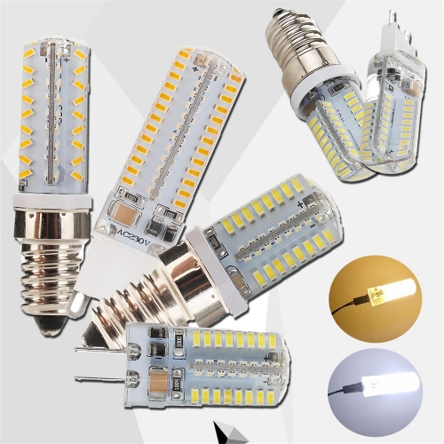 RANPO Dimmable E12 E14 G9 G4 LED Bulb Corn Light 5W 7W 10W Silicone Lamp 3014 SMD AC 110V 220V Chandelier Replace The Halogen Lamps