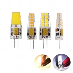 Ranpo 10Pcs/Lot G4 4W 6W 8W COB 2835 SMD Silicone Crystal LED Corn Bulb SpotLight Bright Lamp Warm/Cool White Home Decor Chandeliers