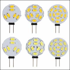 RANPO 20pcs/Lot G4 6/9/12/15 LEDs Light  1W 2W 3W 4W 5730 SMD Lamp Lighting DC 12V corn Light for Boat /Automotiv Warm/Cool White