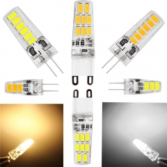 Ranpo New 3W 5W 6W G4 G9 Corn Light 5733 SMD LED Lights Silicone Crystal Lamps Cool Warm White Bulbs 360 Degree Replace Halogen Lamp