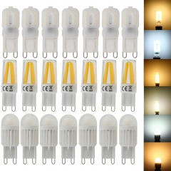 RANPO New Arrival g9 LED Silicone Crystal Lamp Dimmable 2W 3W  4W 5W AC110V 220V Corn Bulb Spotlight Lamp Cool/Warm Lighting
