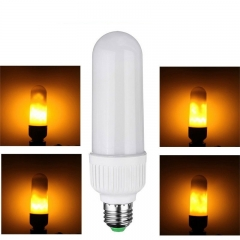 RANPO Three Modes E27 LED Flame Effect Simulated Nature Fire Light Corn Bulbs Decoration Lamp