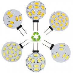 RANPO 10Pcs/Lot LED 5730 SMD Lamp G4 6/9/12/15 LEDs Light Cool/Warm White 2W Watt Bulb DC 12V corn Light for Boat /Automotive