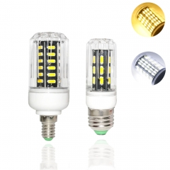 Ranpo 7020 SMD E27 E14 LED Corn Light AC110V 220V 9W 12W 15W 24W 7030smd Led Candle Spotlight Chandelier 360 Degree Home Lighting