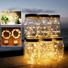 RANPO 2M 20 LED String Silver Copper Wire Fairy String Light Battery Christmas Xmas