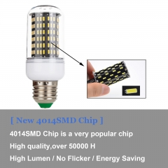Ranpo Dimmable E27 E14 Smart IC LED Corn Light Bulb Lamp 4014 SMD 20W 45W AC 220V Lampada LED Lamps Dimming Home Lights Chandelier