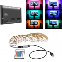 RANPO 1M DC 5V LED Strip RGB Light TV Back Lighting Kit + RF Remote Controller
