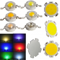 RANPO 20PCS/Lot 1W/3W Led Chips Bulb Diode Lamp Warm white / Cool / Red /Blue / Yellow/Green for LED Spotlight High Power