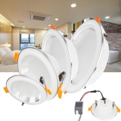 RANPO LED Recessed Ceiling Light Fixture Downlight Bulb 3W 7W 12W 15W Lamps AC 85-265V
