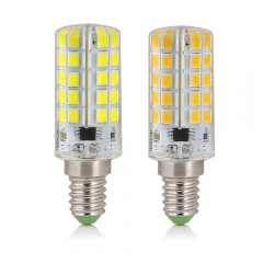 RANPO E14 10W Dimmable LED Corn Bulb Silicone Crystal Light Lamp Cool Warm White 110V 220V