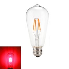 RANPO Colorful Vintage Edison E27 4W LED COB Filament Bulb Light Decor Lamp AC 220V