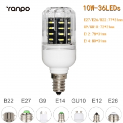 RANPO 10W B22 36leds LED Corn Bulb 4014 SMD Light Cool Warm White Lamp 220V