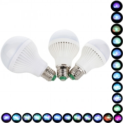 RANPO New E27 Colorful LED Bulb Light 3W Changeable 110V 220V Bombillas LED Lamp Bright 3 Style