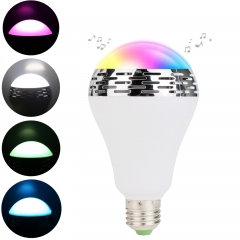 Ranpo E27 Smart Bulb LED RGB Lights Lamp Blue tooth Bulbs Colorful Dimmable Speaker Lights Bulb APP Control Android IOS Smartphone