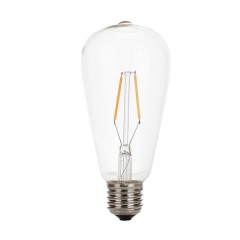 RANPO 2W Vintage LED Edison Bulb E27 LED Filament Light Retro 220V Lamps