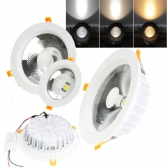 RANPO 3W - 30W LED Recessed Ceiling Lights Flat Panel Downlight Ultra Slim Bulbs Lamps